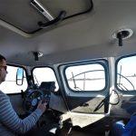 Внутри судна на воздушной подушке
