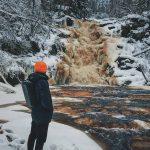 Водопад Белые мосты Карелия