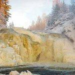 Водопад Кивач, Карелия. Waterfall Kivach, Karelia.