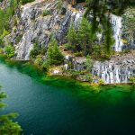 Marble quarry flooded in past in Karelia