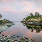 Islands on Ladoga lake