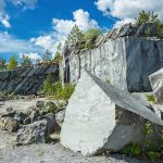 Famous marble quarry Ruskeala in Karelia.