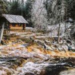 waterfalls of Ruskeala Akhinkoski Akhvensky