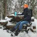 Отдых зимой в карельском лесу