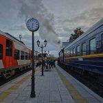 Ретропоезд и ласточка в Сортавала