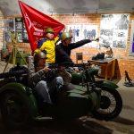 Мотоцикл времен ВОВ в музее