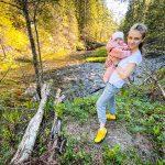 С детьми к водопаду Белые мосты