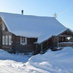 Деревня Кнерма зимой на снегоходе